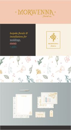 Morwenna Floral Co. | Sydney Jade Creative | Morwenna is a bespoke floral company specializing in installments for events, weddings, and gifts. Logo and branding by Sydney Jade Creative.