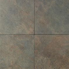 Daltile Continental Slate Brazilian Green CS52 - 12x18 kitchen tile -- These are my bathroom floor tiles :)