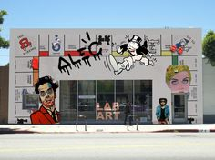 For Alec Monopolys first solo show, LAB ART Gallery, which exclusively shows artwork by street artists, transformed its space into a larger than life experience of the Monopoly board game.