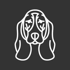 Basset Hound etiqueta engomada GD116