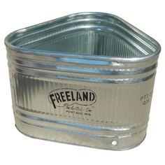 Murdoch's – Freeland Industries – Three-Sided Galvanized Stock Tank - portage garden