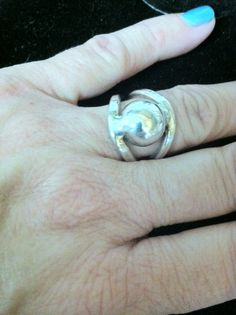 925 Silver Dome Ring Size 8 Ladies Vintage Mexican Silver by ThePurpleDogVintage on Etsy