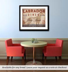 Labrador retriever Lab Diner Kitchen Chef dog by geministudio, $25.00