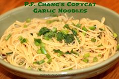 Michelle's Tasty Creations: P.F. Chang's Copycat Garlic Noodles