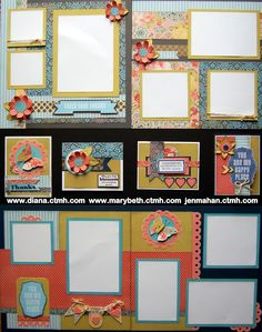 cards and layouts using CTMH Ariana paper