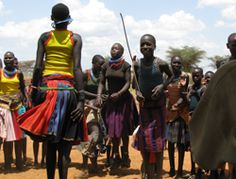 Restless Development drama group in Karamoja, Uganda