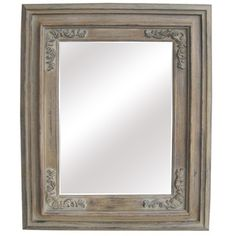 @Overstock.com - Antique Wood Traditional Rectangular 34-inch Wall Mirror - Add a classic accent to any room in your home with this stylish wall mirror. This mirror features a wooden border with traditional motifs and an antique finish.  http://www.overstock.com/Home-Garden/Antique-Wood-Traditional-Rectangular-34-inch-Wall-Mirror/8015270/product.html?CID=214117 $188.99