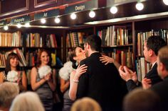 Amy and Andrew's intimate wedding at Housing Works Bookshop in Soho, New York City. Places To Get Married, Got Married, Intimate Weddings, Real Weddings, Wedding Locations, Wedding Venues, Amy Andrews, Engagement Party Planning, Housing Works