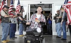 WELCOME HOME, Sgt. Keys! Caption: Sgt. Adam Keys, who lost three limbs as a result of an armored vehicle bombing that killed four others in Afghanistan, came home to Whitehall Saturday for the first time since he was injured in 2010. (THE MORNING CALL, DONNA FISHER / April 21, 2012)