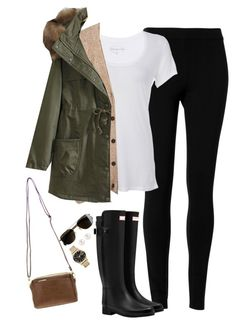 """Fall layers"" by steffiestaffie ❤ liked on Polyvore featuring moda, Max Studio, Scoop, Madewell, Hunter, Henri Bendel, Marc by Marc Jacobs i J.Crew"