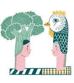 Chicken Broccoli by irene rinaldi, via Behance