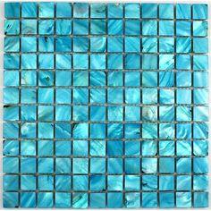 carrelage verre mosaique douche salle de bain gloss bleu ... - Mosaique Bleu Salle De Bain