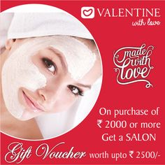 Getting set for Valentine date just got easier! Shop & avail Salon Voucher up to Rs 2500/- Look fab this #ValentinesDay & woo your partner!