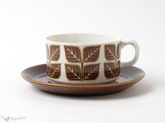 ゲフレ Blad ティーカップ&ソーサー / Gefle Brown, Tableware, Dinnerware, Tablewares, Brown Colors, Dishes, Place Settings