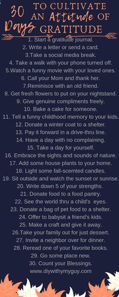 30 Day Gratitude Challenge To Cultivate An Attitude Of Gratitude