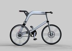 The Audi Electric Bike is a futuristic concept e-bike developed to define the future of environment-friendly transportation. Velo Design, Bicycle Design, Audi, New Electric Bike, E Mobility, Cafe Racer, Cool Bicycles, Road Bikes, Transportation Design