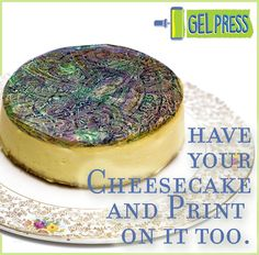 Did you know that the gel in Gel Press is made in an FDA-Approved facility? As long as you keep your food-crafting tools separate from your other art materials – you CAN eat your prints. Whet…