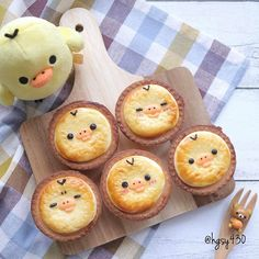 Cute 🐥🐥 cheese tarts by yuka ( Cute Desserts, Dessert Recipes, Kawaii Dessert, Cheese Tarts, Egg Tart, Japanese Sweets, Brunch, Aesthetic Food, Unique Recipes