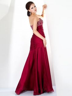 Style A-line Sweetheart Beading Sleeveless Floor-length Chiffon Red Prom  Dress   Evening Dress 3a99d13d2a