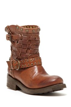 ASH Tequila Woven Leather Short Boot