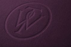 Blind embossed textile covered notepad designed by Bunch for London-based business consultancy Willow Tree.