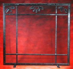 oak leaf fireplace screen custom built by Pheil Forges Custom Fireplace Screens, We Buy Houses, Selling Your House, Home Buying, Home Decor, Decoration Home, Room Decor, Home Interior Design, Home Decoration