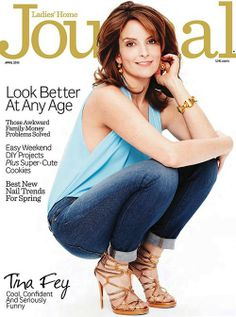 Tina Fey Covers Ladies' Home Journal Magazine April 2013
