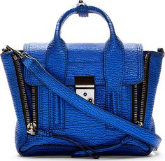 3.1 Phillip Lim Electric Blue Textured Pashli Mini Satchel