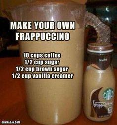Machen Sie Ihren eigenen Frappuccino - Breakfast and brunch - Hot Drinks Non Alcoholic Drinks, Fun Drinks, Yummy Drinks, Beverages, Cocktails, Breakfast And Brunch, Smoothies, Smoothie Drinks, Cafeteria Menu