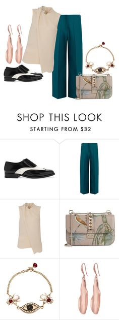 """Untitled #98"" by baasthrix ❤ liked on Polyvore featuring Yves Saint Laurent, Maison Margiela, Cédric Charlier, Valentino, Alexander McQueen and Robert Lee Morris"