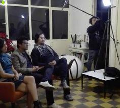 Isabel Vázquez, Tonatiuh Trejo y Fabián Guerrero durante filmación para capítulo de la serie INDEPENDIENTES de Canal 11.