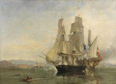 tableau en couleurs: combat naval