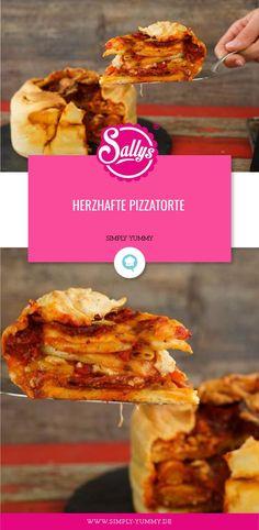 Herzhafte Pizzatorte Herzhafte Pizzatorte von Sally's World Simply Yummy, Pie Flavors, Healthy Body Weight, No Cook Desserts, Easy Cake Recipes, Different Recipes, Nutrition, Snacks, Keto