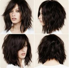 This is certainly the year of the shag haircut, which fits in perfectly with the contemporary-casual undone look that?s currently dominating hair fashion trends. The shag has always been considered a bit daring and rather unconventional. At the time, it Short Shag Hairstyles, Pretty Hairstyles, Hairstyle Ideas, Bob Haircuts, Edgy Medium Hairstyles, Razor Cut Hairstyles, Medium Choppy Haircuts, Haircut Medium, Amazing Hairstyles