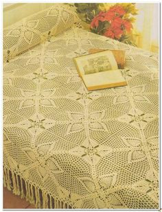 Crochet Knitting Handicraft: Bedspread