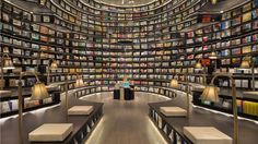 A Shanghai firm created this spectacular, space-ship like Zhongsuhge-Hangzhou Bookstore located on Star Avenue in Binjiang District, a bustling commercial center. Its sleek, otherworldly design is sure to transport readers to new worlds.