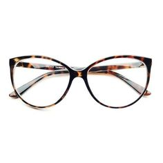 Large Clear Lens Retro Vintage Fashion Cat Eye Eye Glasses Frames... ❤ liked 0a48c159de1