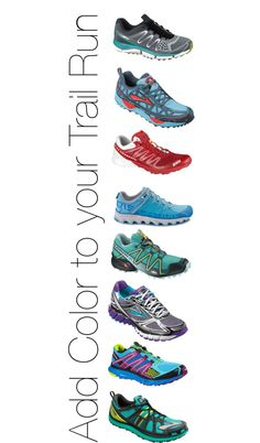 Add color to your #trailrun, with running shoes  by rockcreek.com on Polyvore