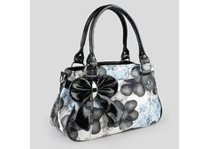 Wholesale Casual Women's Shoulder Bag With Bowknot and Floral Print Design (PEACH RED), Shoulder Bags - Rosewholesale.com