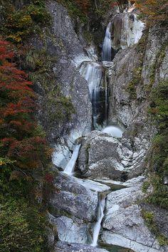 The Four Falls - Kamoshika Falls, Mount Hakusan National Park, Ishikawa Prefecture, Japan