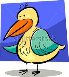 cartoon doodle illustration of cute colorful bird
