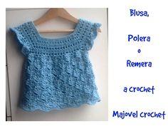 Jersey o chambrita de bebe a crochet #tutorial #DIY 1 parte - YouTube