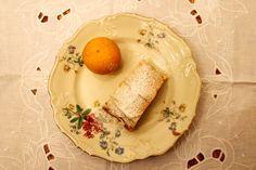 Apfelstrudel mit Bitterzitronen Dairy, Eggs, Cheese, Cooking, Breakfast, Desserts, Food, Peach, Lemon