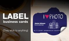 Label as business card? More flexible application! Your customer can stick it handy on anything.