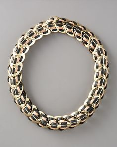 Nara Armor Woven Collar Necklace by Giles & Brother by Philip Crangi