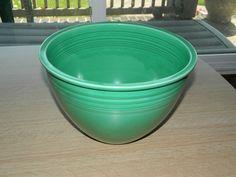 Vintage Fiestaware Original Green Mixing Bowl #6 Inner Bottom Rings (1936-1938)