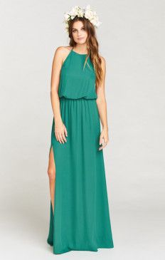 Heather Halter Dress ~ Hutch Green Crisp
