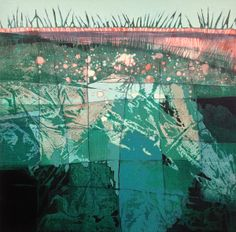 EarthGrid painting by Judith Bergerson