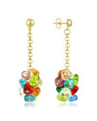 Antica murrina Rubik - Murano Glass Drops Earrings in Multicolor | Lyst