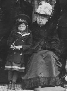 "Elisabeth of Hesse with with her ""Granny-Gran"", as she called Queen Victoria."